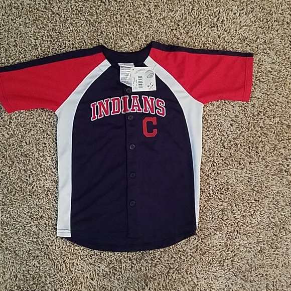sports shoes bc909 dd5de Cleveland Indians youth baseball jerseys NWT